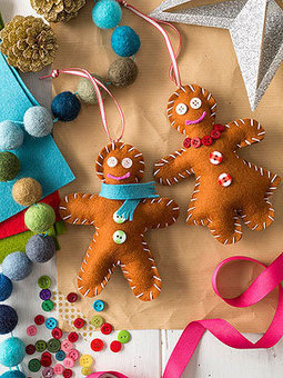 8 Easy Christmas Ornaments: Gingerbread Friends | Christmas Decorations | Scoop.it