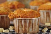 Banana Muffins with White Chocolate Recipe | Veggie & vegan desserts | Scoop.it