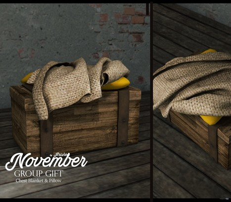 Chest Blanket & Pillow November 2016 Group Gift by Ariskea | Teleport Hub - Second Life Freebies | Second Life Freebies | Scoop.it