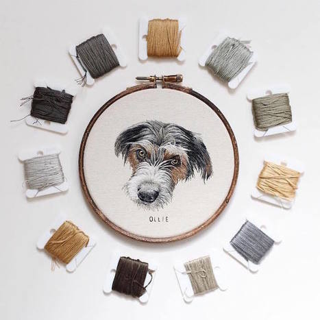 Hyperrealistic Pet Portraits Rendered with Up to 18 Hours of Exquisite Embroidery | Le Panda De Cina ✪ | Scoop.it