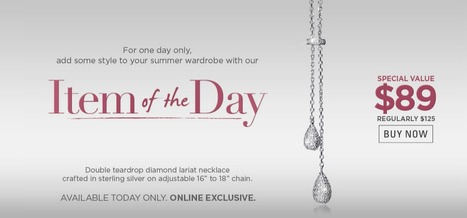 Diamond Double Teardrop Necklace-ONE DAY SALE- please share! | All Things New Jersey | Scoop.it