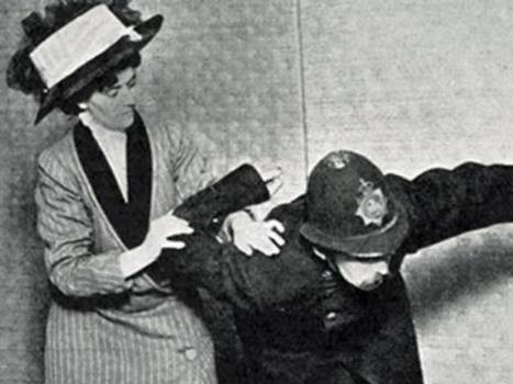 This Badass Suffragette Used Jiu Jitsu To Take Down Police Officers Twice Her Size - ALLDAY | Self Protection | Scoop.it