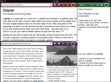 Side by Side iPad App Splits Screen for Online Research, Note-Taking and More | Free Resources from the Net for EVERY Learner | Mobile Devices | Scoop.it