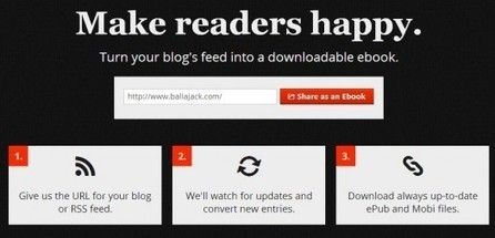 Conversion de pages Web en ebooks Mobi ou ePub, Ebook Glue | Ballajack | Web2.0 et langues | Scoop.it