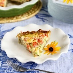 Healthy Potato-Crusted Vegetarian Quiche Recipe w/ Zucchini ... | Healthy lifestyle | Scoop.it