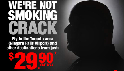 Airline that flies into Niagara Falls using Toronto mayor in ads - Buffalo News (blog) | Media Relations Articles: Rob Ford | Scoop.it