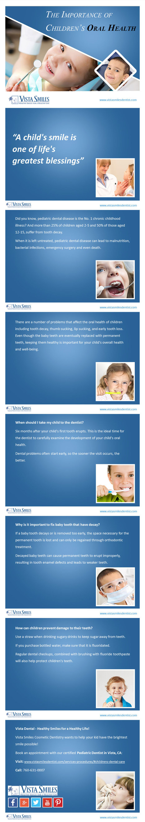 Pediatric Dentist in Vista, CA - Take Care of Your Kid's Oral Health | Early Childhood Studies | Scoop.it