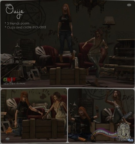 Ouija Pose Gift by Fashiowl Poses | Teleport Hub - Second Life Freebies | Second Life Freebies | Scoop.it