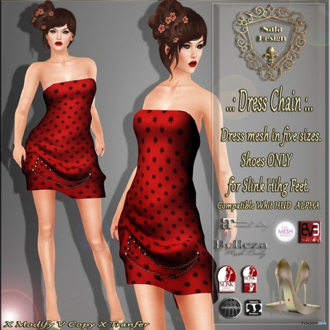 Dress Chain Red Teleport Hub Group Gift by Nala Design | Teleport Hub - Second Life Freebies | Second Life Freebies | Scoop.it