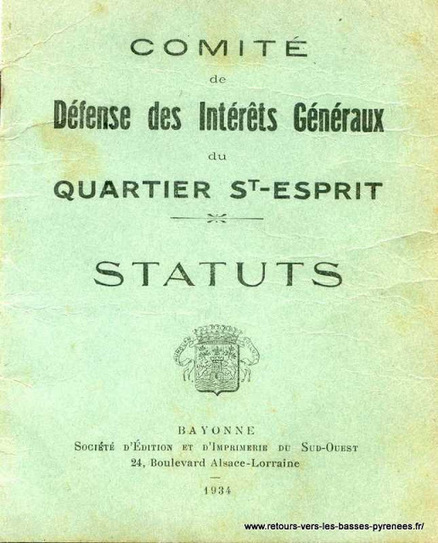 Retours vers les Basses-Pyrénées: Défense des Intérêts Généraux du quartier St-Esprit, | Mes Hautes-Pyrénées | Scoop.it