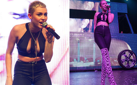 Miley Cyrus' Braless Cropped Top: Fashion Hit or Miss? (POLL) - AOL Music Blog | I don't do fashion, I am fashion | Scoop.it