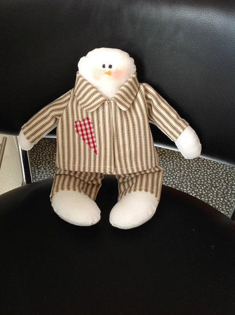 Christmas decoration snowman in pyjamas - hand made - made to order   Handmade items   Scoop.it