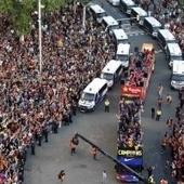 FOTOGALERÍA: Los jugadores del Barça celebran en las calles - Excélsior | sociedad | Scoop.it