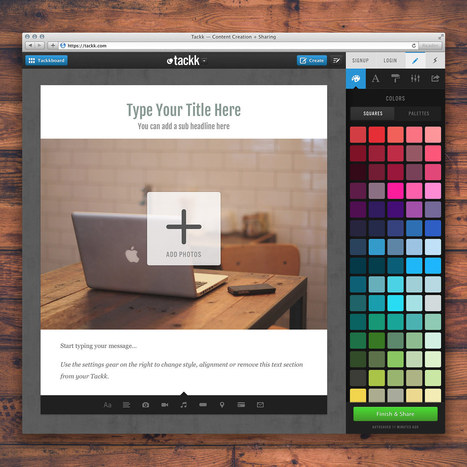 Tackk - Simply create beautiful pages | Tools for Teachers & Learners | Scoop.it