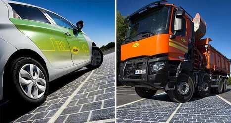 Quand la route devient centrale photovoltaïque, une première mondiale française - Les Echos.fr - Actualité à la Une | Best off d'innovations | Scoop.it