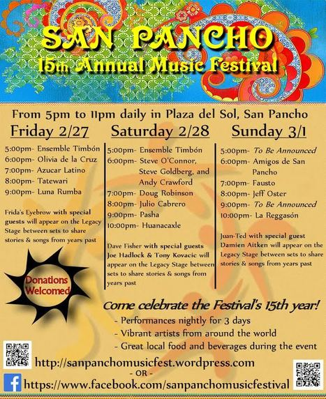 2015 SAN PANCHO MUSIC FESTIVAL: Performance Schedule | Puerto Vallarta | Scoop.it
