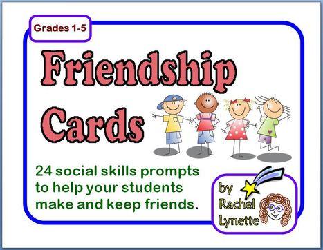 Friendship Cards 24 Social Skill Prompts | Seasonal Freebies for Teachers | Scoop.it