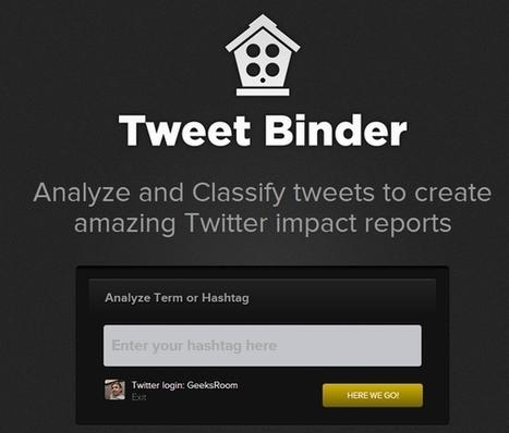 Tweet Binder nueva y completa plataforma de análisis de keywords y hashtags de Twitter   comunity manager importancia en la empresa   Scoop.it