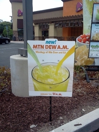 Taco Bell, Where 'Mountain Dew A.M.' Is A Breakfast Drink - The Consumerist | Kickin' Kickers | Scoop.it