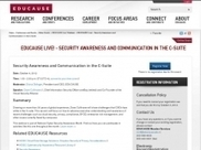 Security Awareness & Communication in the C-Suite [Webinar] | Higher Education & Information Security | Scoop.it