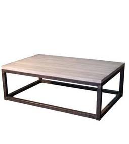 Dadra | Mesas de centro hierro forjado y madera a medida | MESA DE CENTRO CUBO HIERRO MADERA ENVEJECIDA | Mesa de centro  hierro y madera | Scoop.it