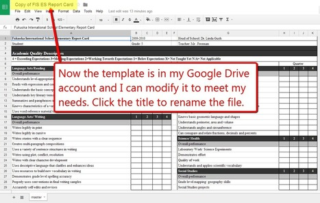 Free Technology for Teachers: How to Find and Use Report Card Templates in Google Drive | Using Google Drive in the classroom | Scoop.it