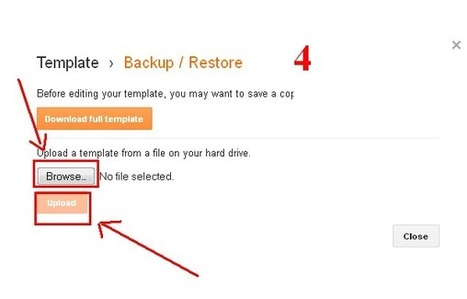 How to Restore your Backup of Blogger Template « Latest Tricks and Tips | Techrainy | Scoop.it