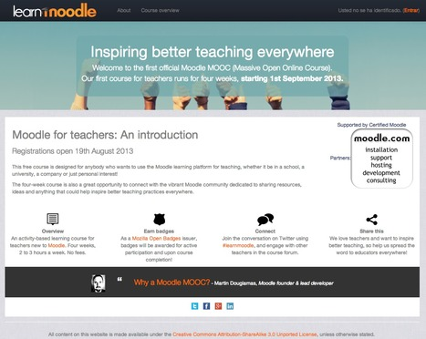 Learn Moodle: MoodleMOOC Moodle for teachers: An introduction | About learning and more | Scoop.it