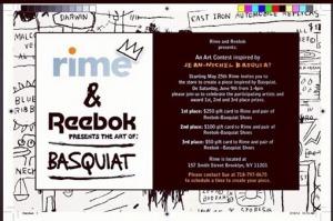 RIME X REEBOK X BASQUIAT | ABOVE AVRGE | Revue de presse passée en Revue | Scoop.it
