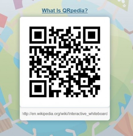 QRpedia - generate Wikipedia QR codes | The Whiteboard Blog | QR codes Teaching and Learning | Scoop.it
