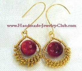DIY Wire Jewelry Making: Coiled Earrings Tutorial | artisan jewelry | Scoop.it