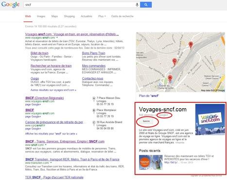 Les Pages Google+ en bonne place sur les résultats de recherche Google | Clic France | Scoop.it