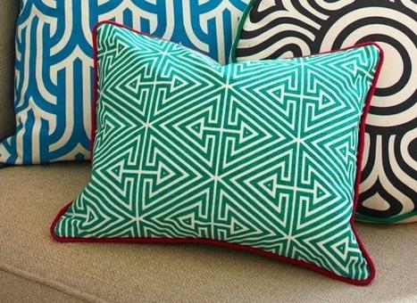 39 g om trique 39 in tissu d 39 ameublement art textile et - Tissus d ameublement anglais ...
