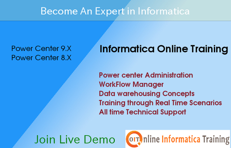 Learn Informatica Course through Online Classes | Build your bright career with online training by online informatica training institute | Scoop.it