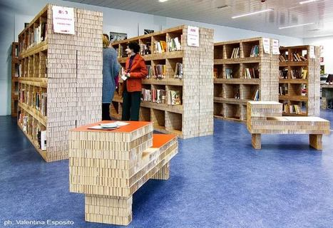 100 Cardboard Bookshelves for 30000 Books | Green With Envy | Sustainable Office and Public Spaces | Scoop.it