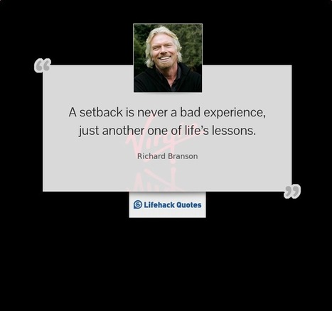 Daily Quote: What is a Setback? | Life @ Work | Scoop.it