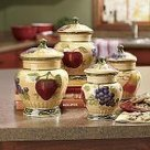 Italian Canister Set Tuscany Fruit Decor | Kitchen Canister Sets | Scoop.it