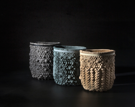 talia mukmel terra cotta 2 bowl series mixes flour and sand | Design search | Scoop.it