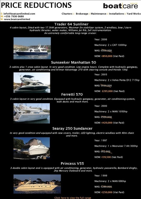 Price Reductions | Boatcare | Price Reductions | Scoop.it