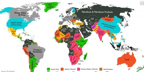 MAP: Every Country's Highest-Valued Export | Advance Placement Human Geography | Scoop.it