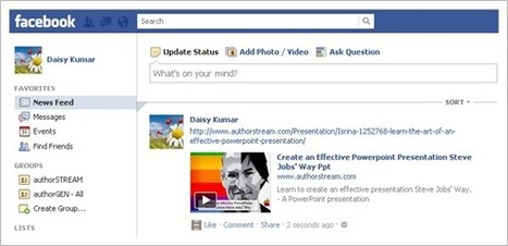 authorSTREAM Blog: How to embed PowerPoint presentations on your Facebook Wall? | Social Media Italy | Scoop.it