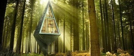 Une maison bioclimatique et design qui se fond dans la nature (+vidéo) | Immobilier | Scoop.it