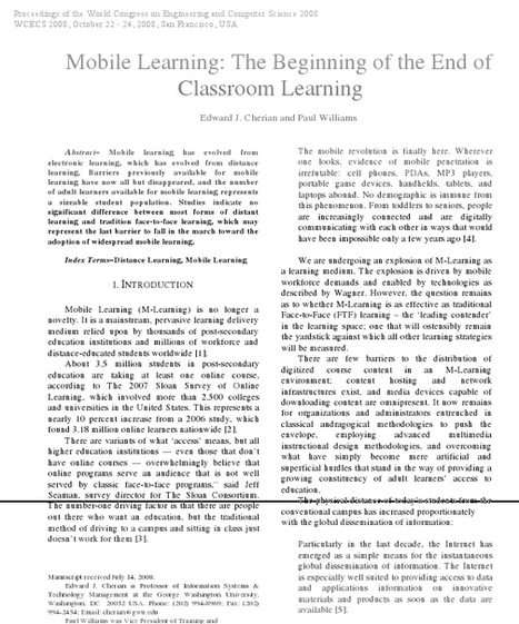 A Framework for Assessing the Quality of Mobile Learning | Best Practices in Instructional Design  & Use of Learning Technologies | E-learning, tools and methodologies-MARTHA MENDEZ | Scoop.it