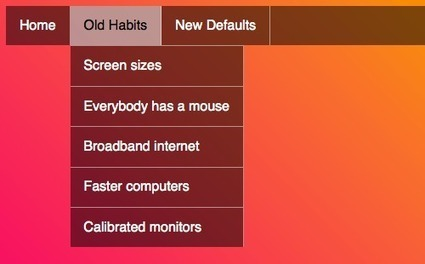 New Defaults In Web Design — How Much Has The Web Really Changed? | Smashing Magazine | Mémoire | Scoop.it