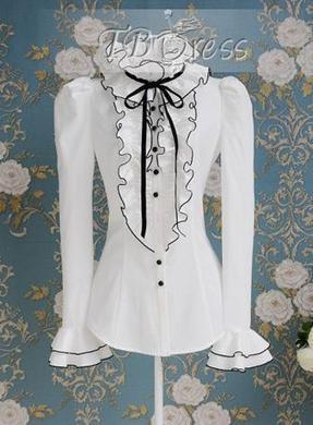 $ 21.99 Beautiful Falbala Bow Knot Long Sleeve  Shirts | Gentleman | Scoop.it