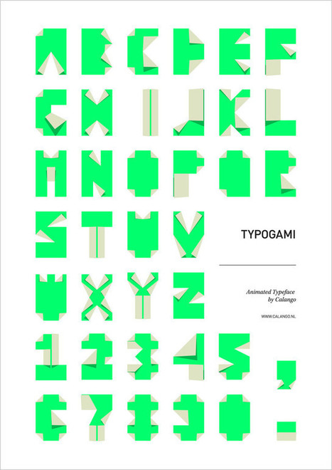 Typogami: A Free Animated Typeface Inspired By Origami | #inspiration, graphism, typo | Scoop.it