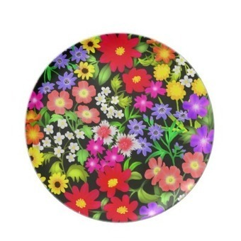 Colorful Garden Flowers Plate from Zazzle.com | Dinner Plates | Scoop.it