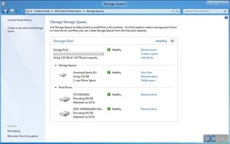 Windows 8 Storage Spaces feature revealed, plays nicely with ReFS | Microsoft | Scoop.it