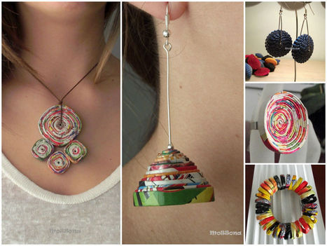 Paper & Cardboard Jewelry   DIY & Crafts   Scoop.it