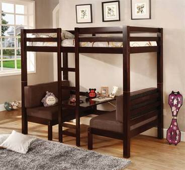 Max Furniture Sandy Convertible Loft Bunk Bed | Loft Bed with Slide | Scoop.it